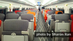 second class seat, high-speed train