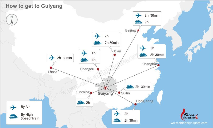 Guiyang transportation map