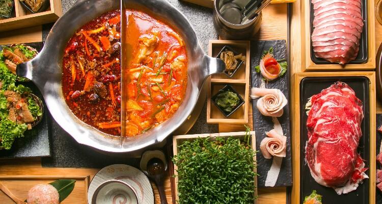 enjoy a hot pot meal