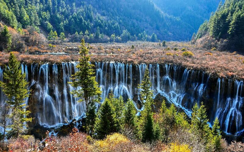 Jiuzhaigou Attractions Map