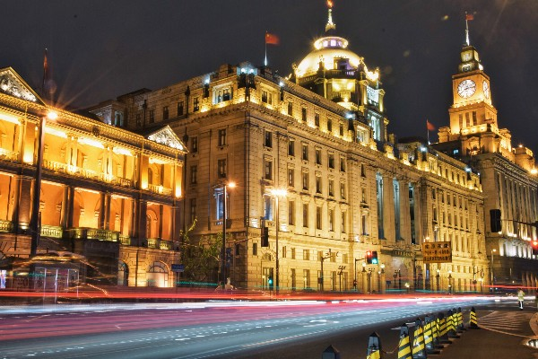 night view on the bund