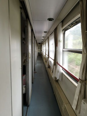 Soft sleeper on Vietnam to China train