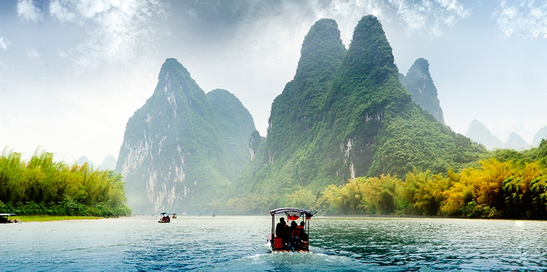 Guilin Li River,a best place to visit in march