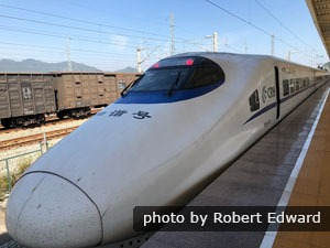 Take a highspeed train to travel around Shanghai