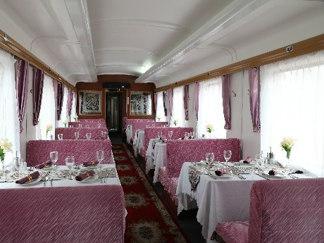 Restaurant car on China Orient Express