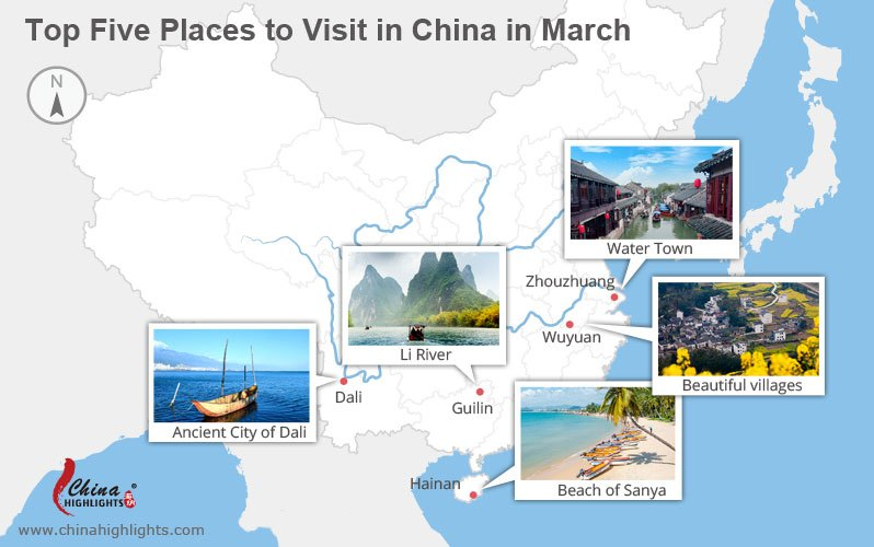 top places to visit in China in march