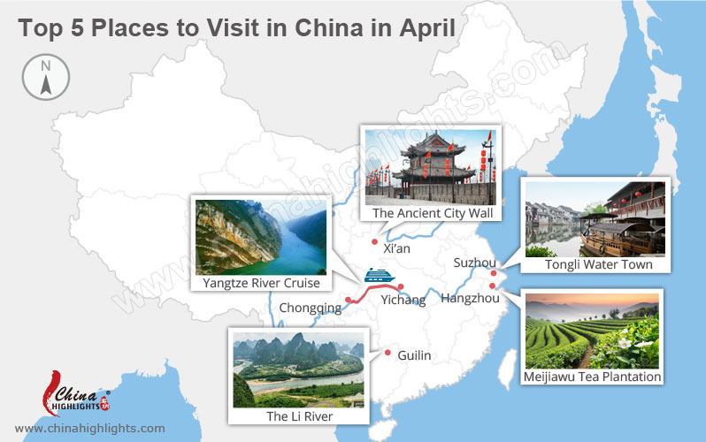 Top 5 places to visit in China in April