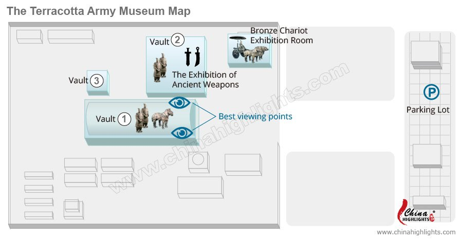 Terracotta Army Museum Map