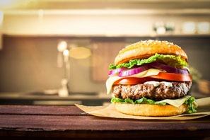 the hamburgers