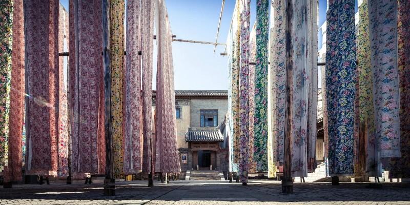 The tie-dyeing workshop