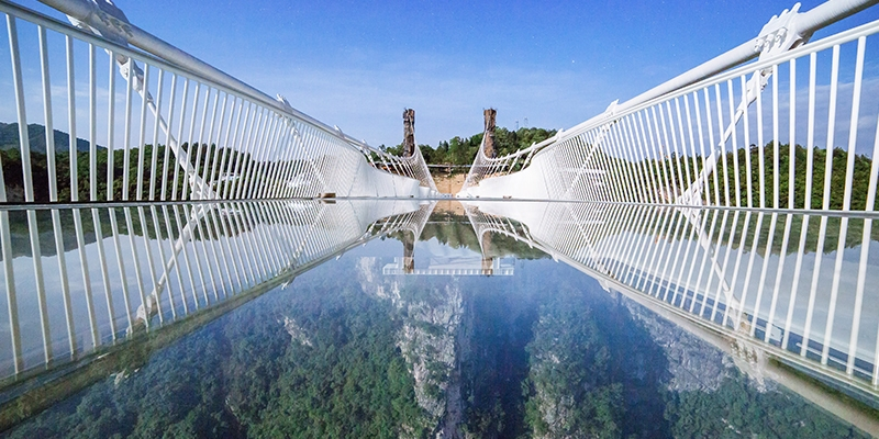 Zhangjiajie's famous glass bridge