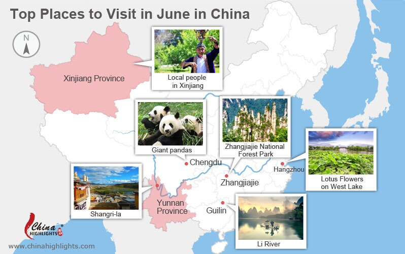places to visit in june in china