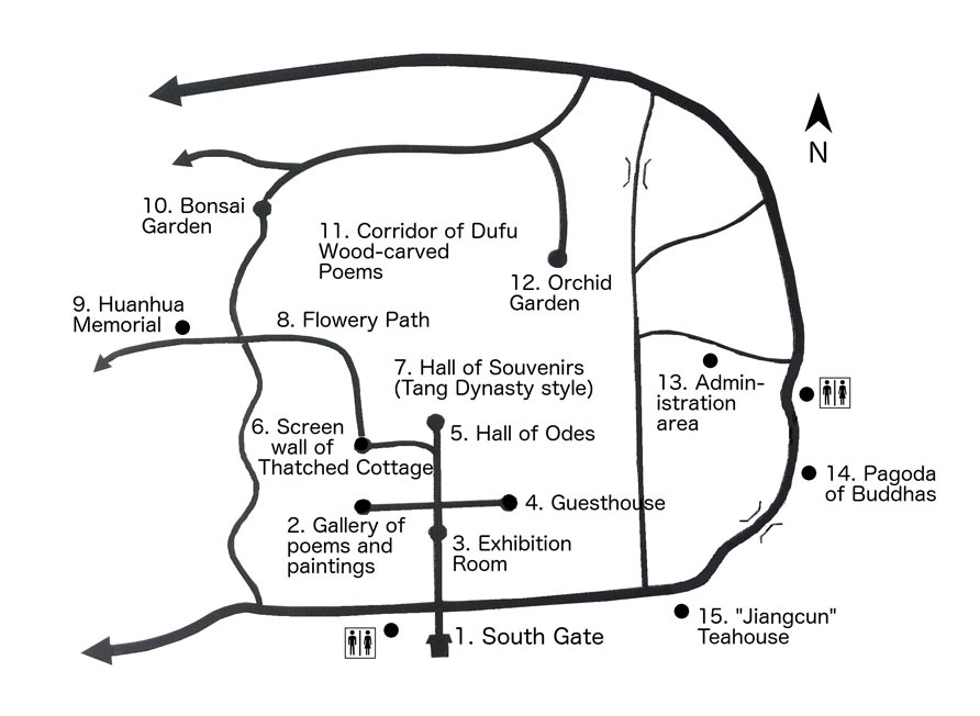 map of du fu thatched cottage