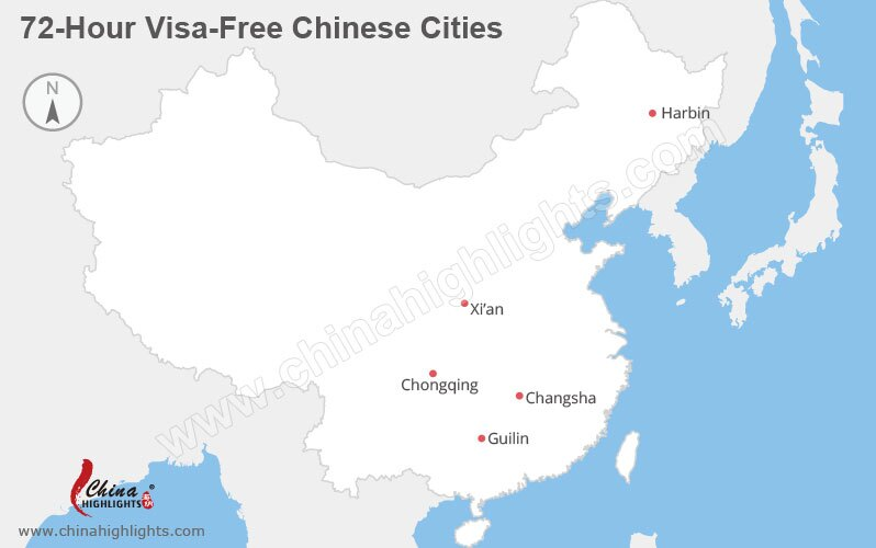 72-hour visa-free chinese cities