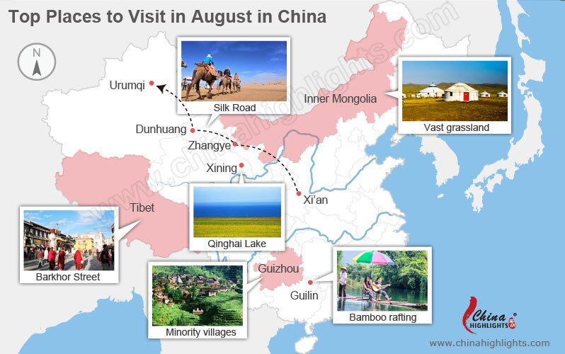 top places to visit in august