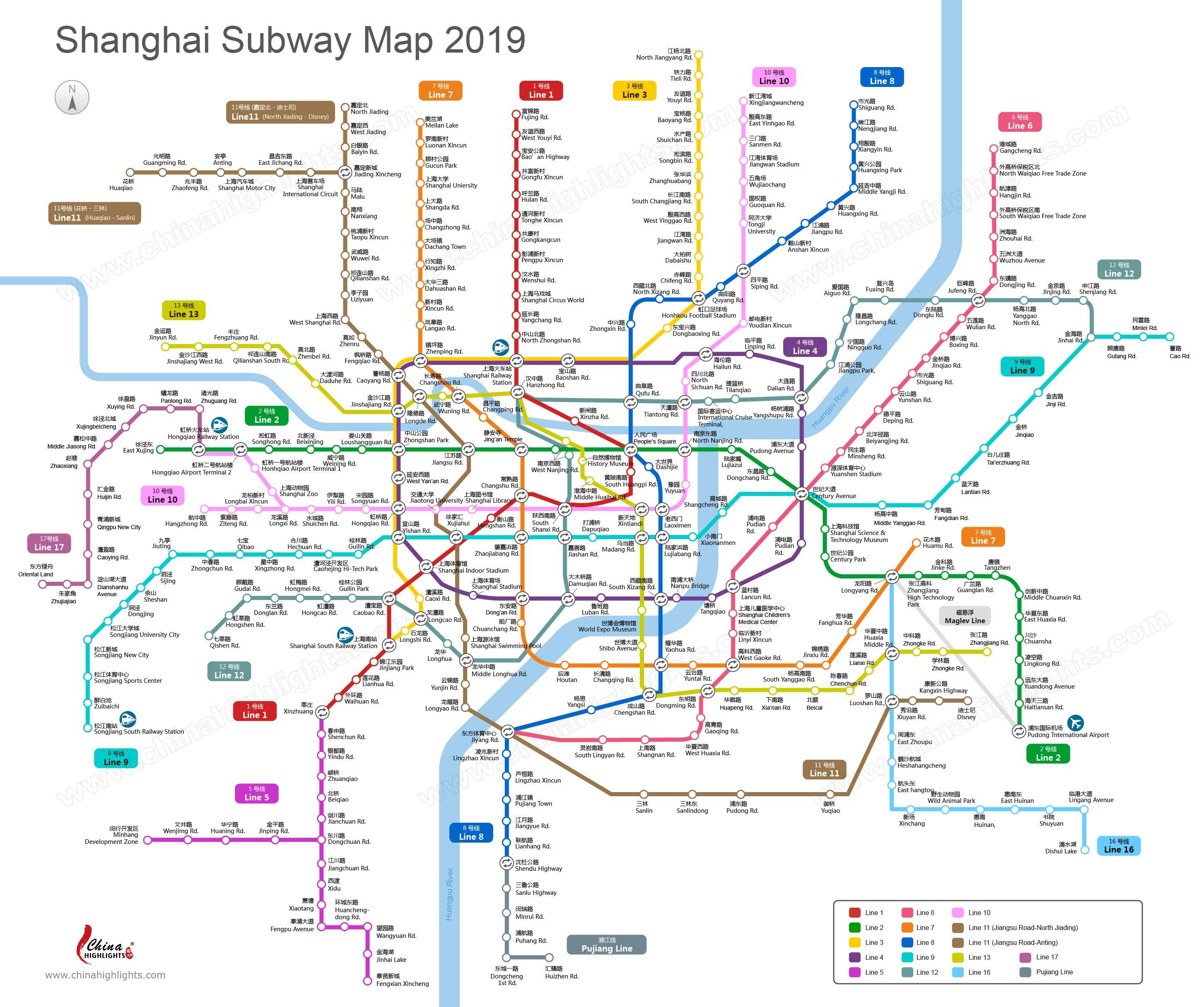 Subway Map Of Park Slope.Shanghai Subway Shanghai Metro Map Updated 2019