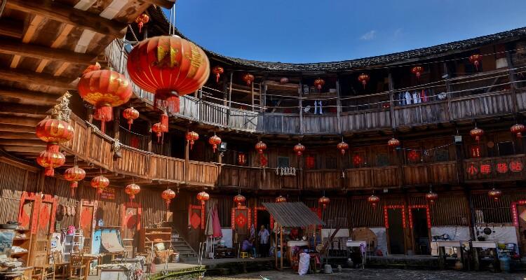 courtyard inside a tulou