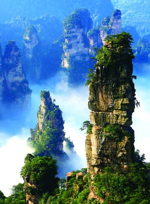 Mountains in Zhangjiajie