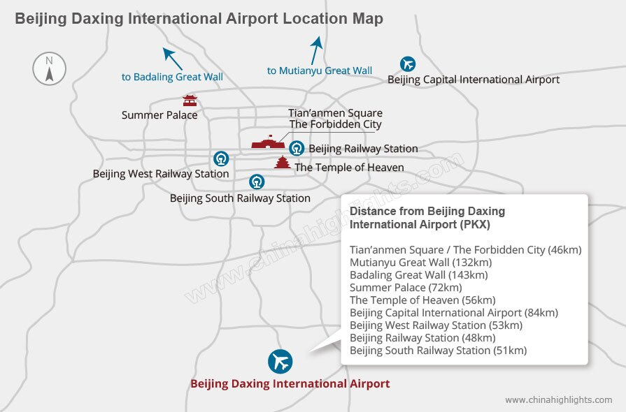 beijing daxing airport location map