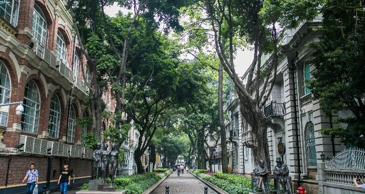 Isla Shamian de Guangzhou
