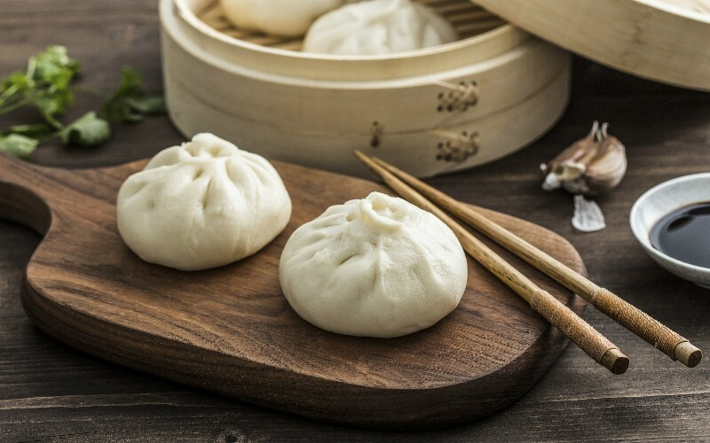 Chinese Steamed Stuffed Buns