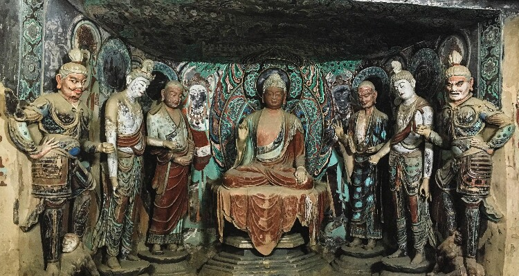 The renowned Mogao Grottoes