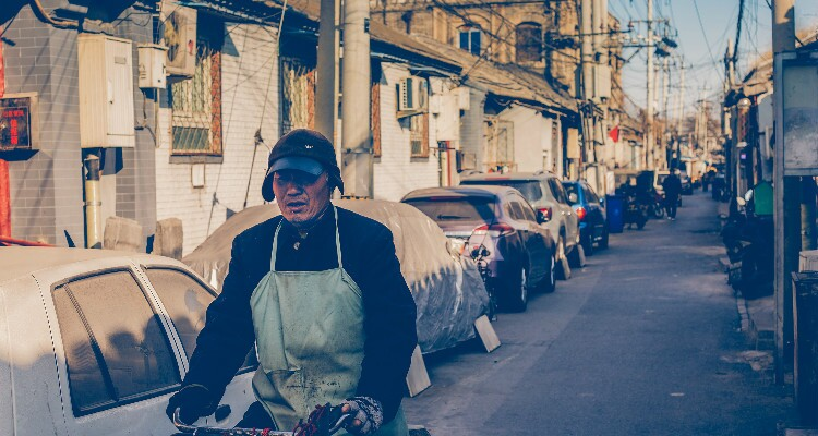 The Rickshaw in Hutong Alleys