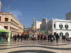 Senado Square Macau at Christmas