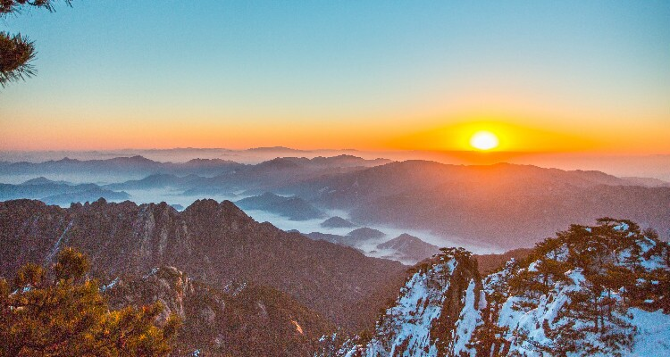 sunrise at the Yellow Mountains