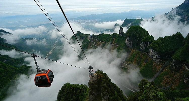 Tianmen Mountain's cableway
