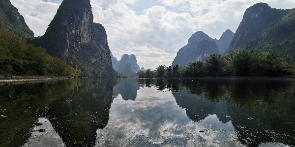 the reflection on the Li River