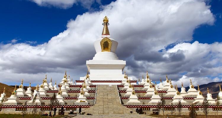 the white Tibet pagodas
