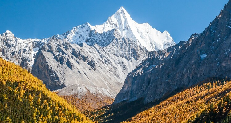 snow mountain in Yading