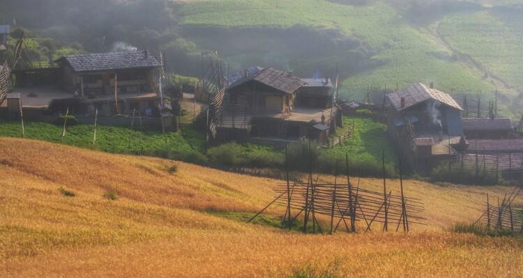 a local village in Zhagana