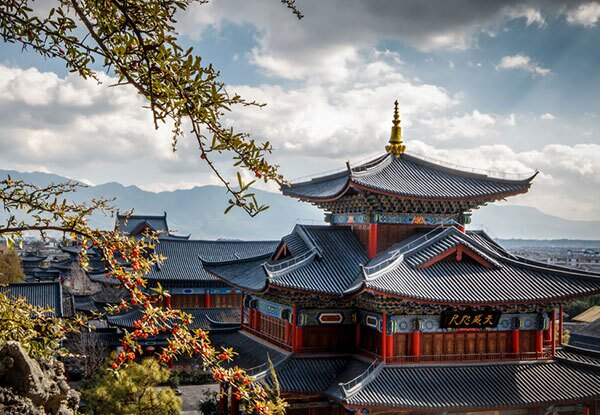 the ancient building in Lijiang