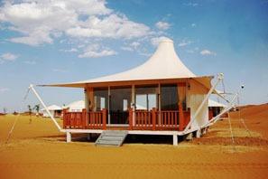 Desert tents in Jinshahai