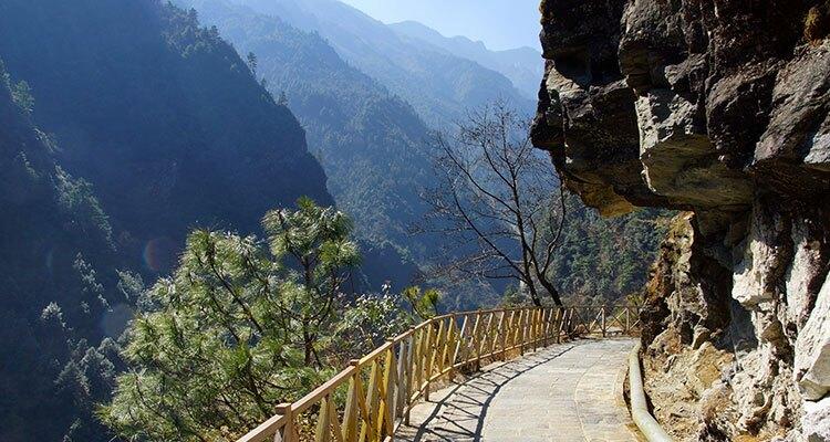 hiking path on the mountain