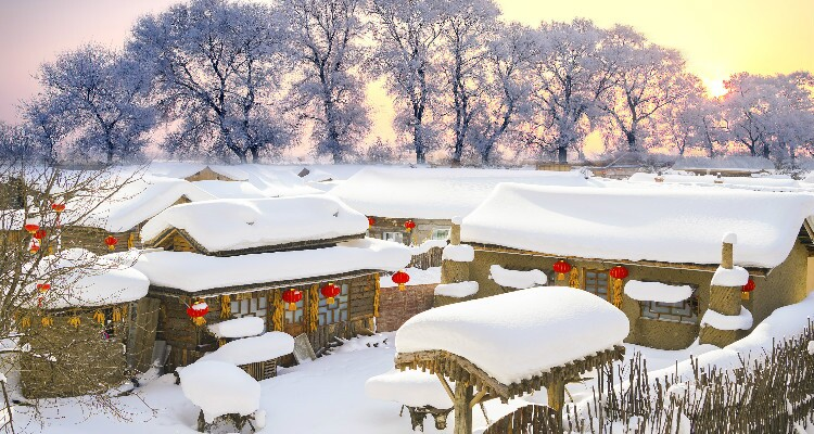 A Glance of China Snow Town