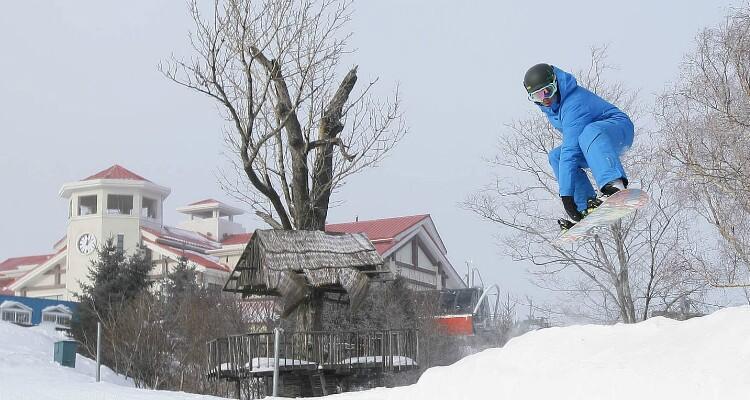 Skiing in Yabuli