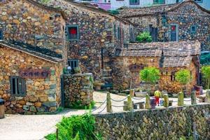 Colorful ancient houses in Quanzhou Zhangjiao Village