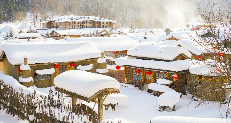 The Hotel in China Snow Town
