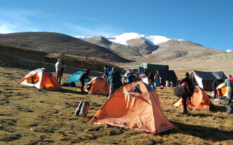 Camping on the EBC trek trail