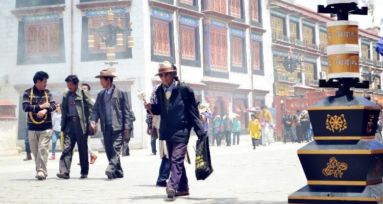 Tibetan people on Barkhor Street