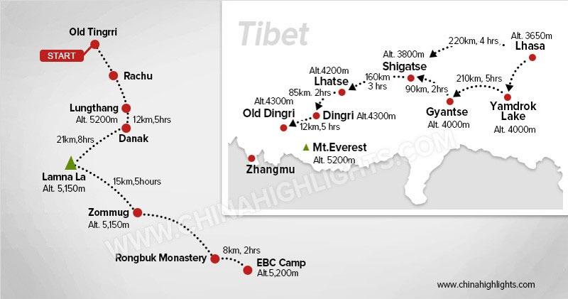 Map of EBC Trek