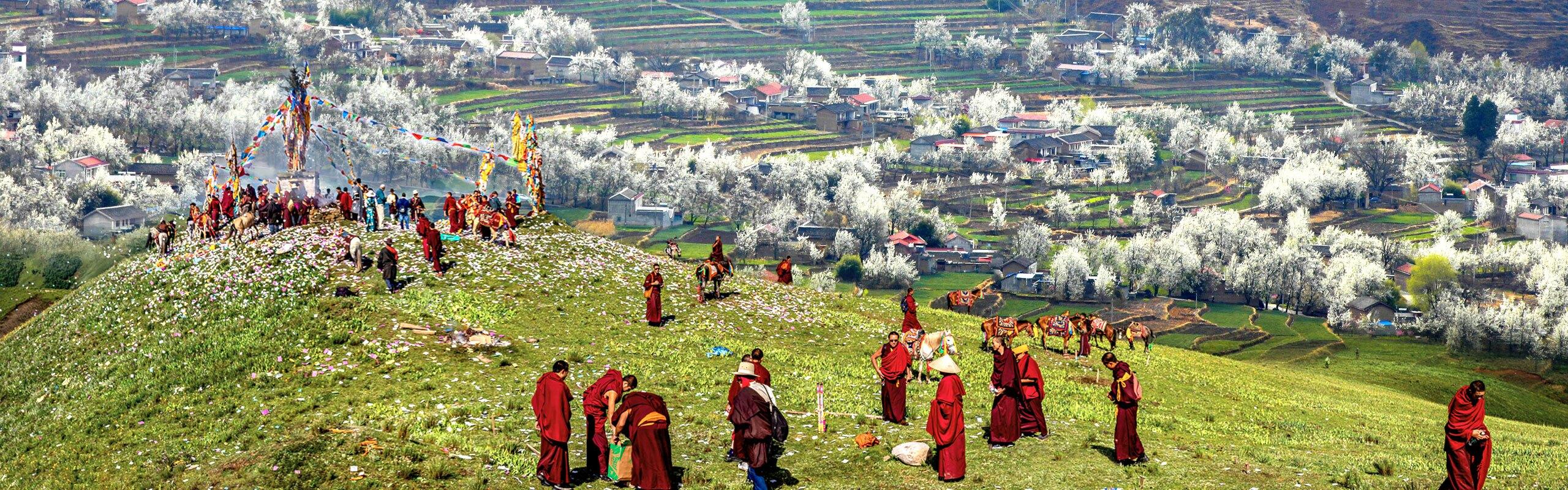 4-Day Western Sichuan Tibetan Spring Tour from Chengdu