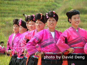 Ethnic people in Longsheng, Guilin