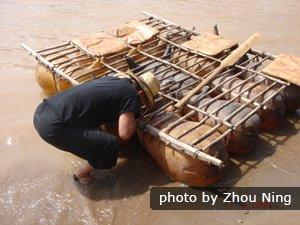 The sheep-skin rafts