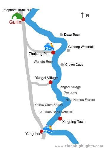 Li River Hiking Map