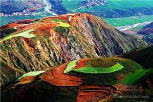 Beautiful scenery of Dongchuan Red land