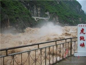 Torrential water of Tiger Leaping Gorge
